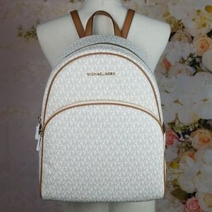 Michael Kors Large Abbey Backpack Vanilla Acorn